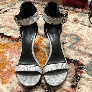 Calvin Klein like new strappy heels